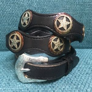 Accessories - Vintage star concho western belt